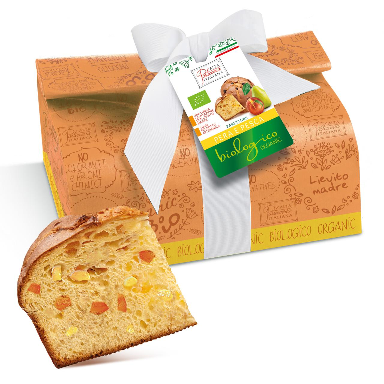 PEAR AND PEACH ORGANIC PANETTONE